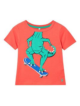 Joules Joules Toddler Boys Archie Dino T-Shirt - Red Picture