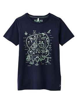Joules Joules Boys Ray Glow In The Dark T-Shirt - Navy Picture