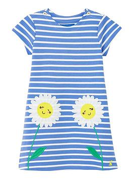 Joules Joules Toddler Girls Kaye Flower Dress - Blue Picture