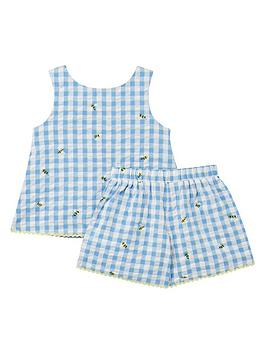 Joules Joules Toddler Girls Carmel Check Co-Ord Set - Blue Picture