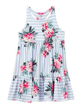 Joules Joules Girls Juno Floral Dress - Blue Picture