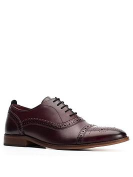 Base London Base London Cast Lace Up Brogue - Dark Red Picture