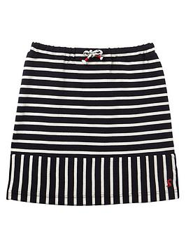 Joules Joules Girls Harbour Stripe Skirt - Navy/White Picture