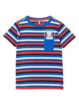 Joules Joules Toddler Boys Peeker Stripe T-Shirt - Blue Picture