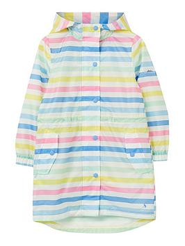 Joules Joules Girls Go Lightly Stripe Packaway Jacket - Multi Picture