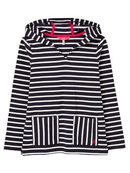Joules Joules Girls Astbury Stripe Hoodie - Navy/White Picture