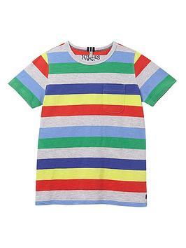 Joules Joules Boys Caspian Stripe T-Shirt - Grey Picture