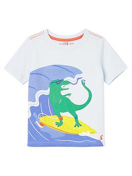 Joules Joules Toddler Boys Archie Dino T-Shirt - Blue Picture