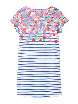 Joules Joules Girls Riviera Spot Dress - Blue/White Picture