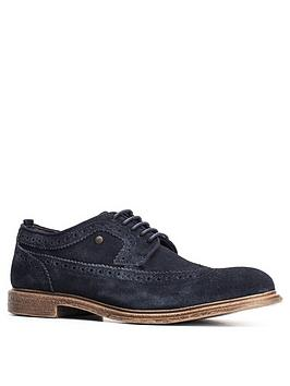 Base London Base London Onyx Suede Brogue - Navy Picture