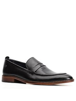 Base London Base London Lens Penny Loafer Shoe - Black Picture