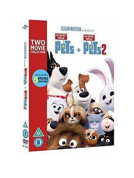 Very  The Secret Life Of Pets 1 & 2 Box Set Dvd