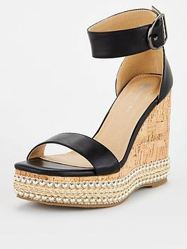 V by Very V By Very Studded Detail High Wedge - Black Picture