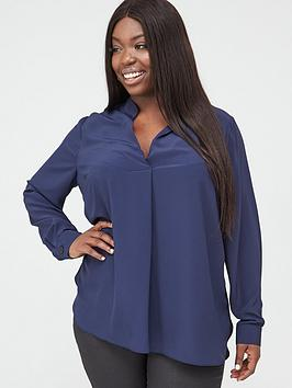 V by Very Curve V By Very Curve Tunic Blouse - Navy Picture