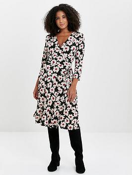 Evans Evans Daisy Wrap Dress - Print Picture