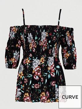 v-by-very-curve-cold-shoulder-longline-crinkle-blouse-ditsy-print