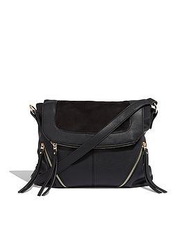 oasis-cara-zip-satchel-black