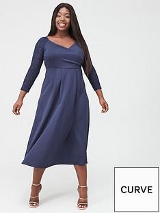 v-by-very-curve-lace-sleeve-midi-dress-navy