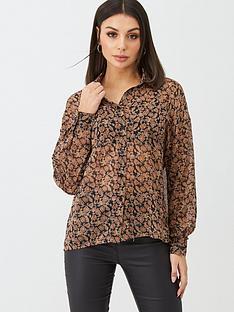 boohoo-boohoo-paisley-floral-shirt-brown