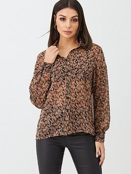 Boohoo Boohoo Boohoo Paisley Floral Shirt - Brown Picture