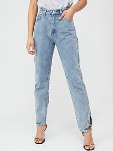 boohoo-boohoo-cut-hem-jeans-blue