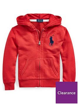 ralph-lauren-boys-big-pony-zip-through-hoodie-red