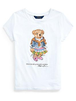 Ralph Lauren Ralph Lauren Girls Short Sleeve Bear Print T-Shirt Picture