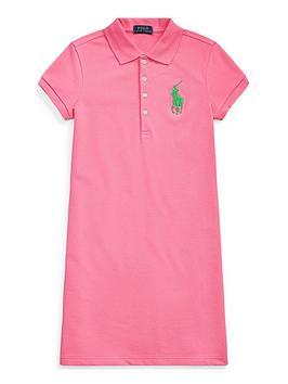 Ralph Lauren Ralph Lauren Girls Classic Peplum Polo Dress - Pink Picture