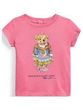 Ralph Lauren Ralph Lauren Baby Girls Short Sleeve Bear Print T-Shirt - Pink Picture