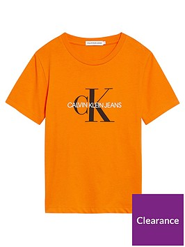 calvin-klein-jeans-unisex-monogram-short-sleeve-t-shirt-orange