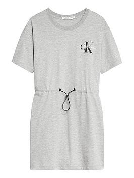 Calvin Klein Jeans Calvin Klein Jeans Girls Small Monogram Short Sleeve  ... Picture