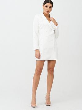 Boohoo Boohoo Boohoo Pearl Embellished Blazer Dress - White Picture