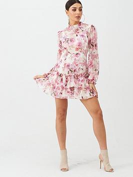 Boohoo Boohoo Boohoo Floral Ruffle Day Dress - Pink Picture