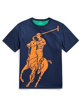 Ralph Lauren Ralph Lauren Boys Short Sleeve Pony Graphic Performance  ... Picture