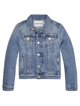 Calvin Klein Jeans Calvin Klein Jeans Girls Trucker Denim Jacket - Blue Picture
