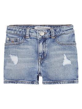 Calvin Klein Jeans Calvin Klein Jeans Girls Powd Denim Short - Light Blue Picture