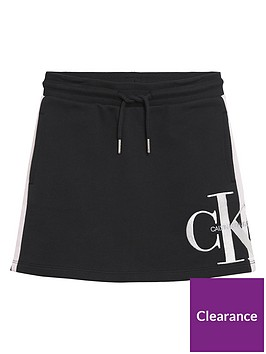 calvin-klein-jeans-girls-monogram-sweat-skirt-black