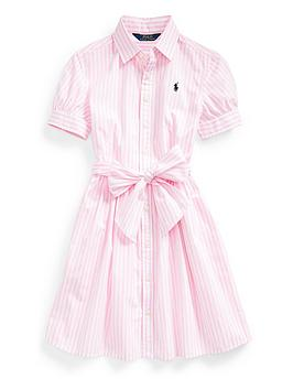 Ralph Lauren Ralph Lauren Girls Classic Stripe Shirt Dress Picture