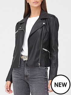 v-by-very-puff-sleeve-punbspjacket-black