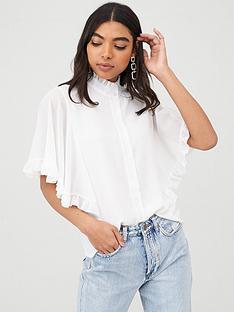boohoo-boohoo-woven-ruffle-angel-sleeve-blouse-ivory