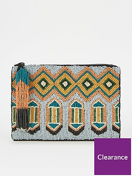 v-by-very-beaded-tassle-trim-zip-purse-multi