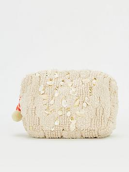 V by Very V By Very Shell Trim Cosmetic Bag - Natural Picture