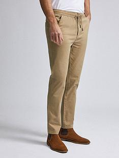 burton-menswear-london-washed-cotton-joggers-tan