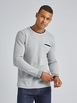 Burton Menswear London Burton Menswear London Contrast Collar Long Sleeve  ... Picture