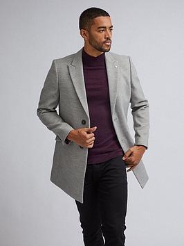 Burton Menswear London Burton Menswear London Two Button Faux Wool Coat -  ... Picture