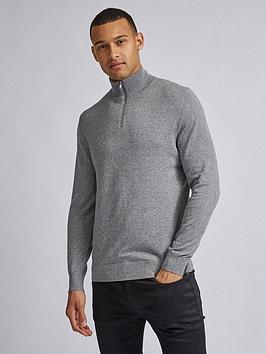 Burton Menswear London Burton Menswear London Half Zip Jumper - Grey Picture