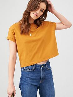 v-by-very-boxy-t-shirt-mustard