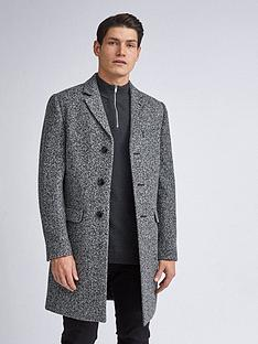burton-menswear-london-grindle-texture-overcoat-grey