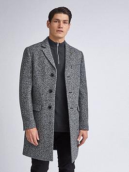 Burton Menswear London Burton Menswear London Grindle Texture Overcoat -  ... Picture