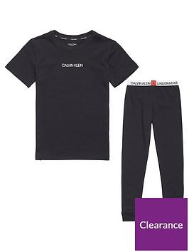 calvin-klein-boys-cuffed-pyjama-set-black
